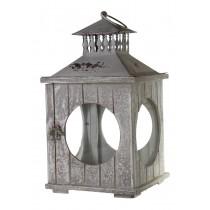 Серый деревянный подсвечник