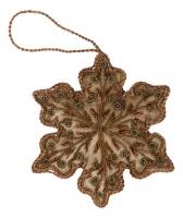 Ёлочное украшение - снежинка в стиле прованс