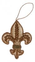 Ёлочное украшение - лилия в стиле прованс