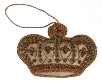 Ёлочное украшение - корона в стиле прованс