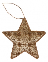 Ёлочное украшение - звезда в стиле прованс