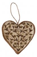 Ёлочное украшение - сердце в стиле прованс