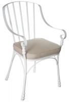 Стул с мягким сиденьем металлический в стиле прованс