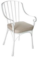 Стул с мягким сиденьем металлический