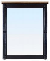 Зеркало в обрамлении (черное) в стиле прованс