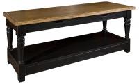 Коричневый журнальный стол из дуба в стиле прованс