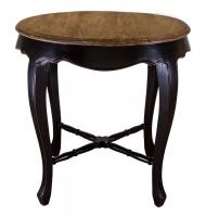 Круглый стол из натурального эльма в стиле прованс