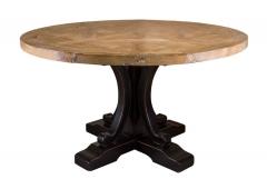 Деревянный круглый стол из тополя