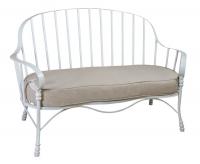 Скамейка с мягким сиденьем металлическая