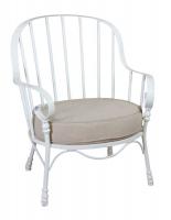 Кресло с мягким сиденьем металлическое в стиле прованс