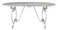 Белый металлический стол в стиле прованс