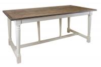 Стол обеденный из дуба в стиле прованс