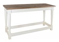 Пристенный стол из дуба в стиле прованс