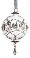 Ёлочное украшение - шар в стиле прованс