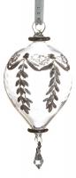 Ёлочное украшение - шар каплевидный в стиле прованс
