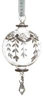 Ёлочное украшение - шар овальный в стиле прованс
