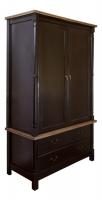 Шкаф для одежды черный в стиле прованс