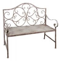 Скамейка металлическая в стиле прованс