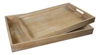 Набор деревянных подносов в стиле прованс