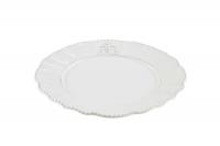 Тарелка белая в стиле прованс
