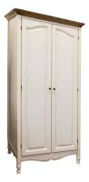 Шкаф для одежды (белый орех) в стиле прованс