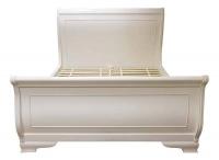 Кровать двуспальная (белая) в стиле прованс