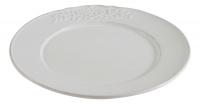 Тарелка (керамика, белый цвет) в стиле прованс