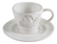 Чашка с блюдцем с ангелом в стиле прованс