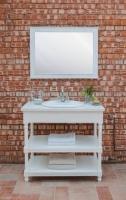 Умывальник открытый с зеркалом в стиле прованс