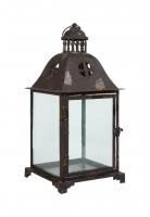 Подсвечник (черный, стекло) в стиле прованс