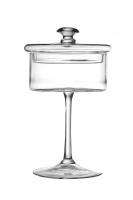 Пирожница на ножке с стеклянной крышкой (прозрачная) в стиле прованс